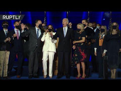 شاهد بايدن يؤكد أنه سيحكم كرئيس أميركي للجميع