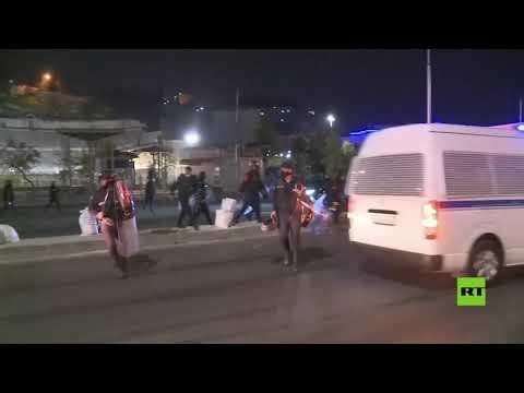 شاهد اشتباكات بين الشرطة والمحتجين في العاصمة الأردنية