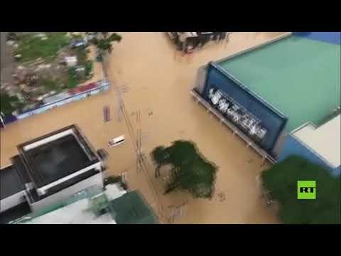 لقطات جوية لفيضانات عارمة سببها إعصار فامكو في الفلبين