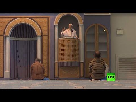 شاهد إقامة أول صلاة جمعة في أول مسجد في عاصمة اليونان أثينا