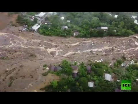 شاهد وفاة العشرات في انهيار أرضي بـغواتيمالا