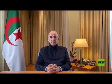 شاهد أول ظهور للرئيس الجزائري عبدالمجيد تبون منذ توجهه إلى ألمانيا للعلاجشاهد أول ظهور للرئيس الجزائري عبدالمجيد تبون منذ توجهه إلى ألمانيا للعلاج