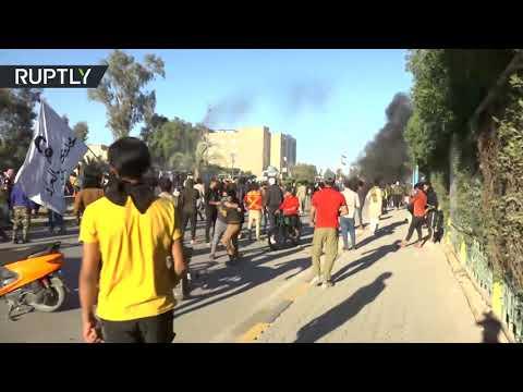 شاهد سقوط جرحى خلال صدامات مع القوات الأمنية